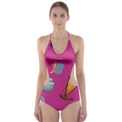 Aloha   Summer Fun 1 Cut Out One Piece Swimsuit