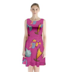Aloha   Summer Fun 1 Sleeveless Waist Tie Chiffon Dress