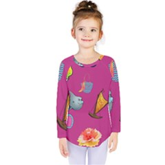 Aloha   Summer Fun 1 Kids  Long Sleeve Tee