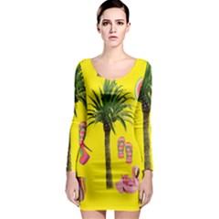 Aloha   Summer Fun 2 Long Sleeve Bodycon Dress
