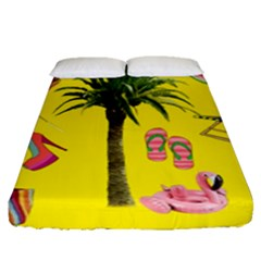 Aloha   Summer Fun 2 Fitted Sheet (queen Size)