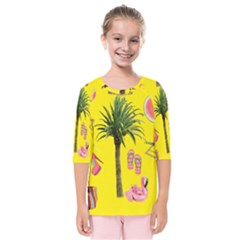 Aloha   Summer Fun 2 Kids  Quarter Sleeve Raglan Tee