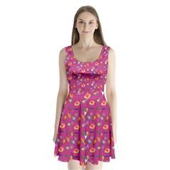 Aloha   Summer Fun 1b Split Back Mini Dress