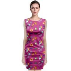 Aloha   Summer Fun 1b Sleeveless Velvet Midi Dress