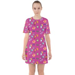 Aloha   Summer Fun 1b Sixties Short Sleeve Mini Dress