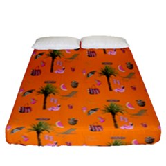 Aloha   Summer Fun 2c Fitted Sheet (queen Size)