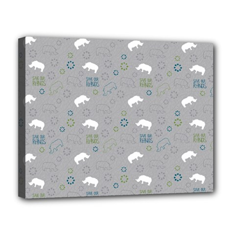 Shave Our Rhinos Animals Monster Canvas 14  X 11