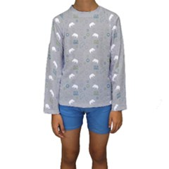 Shave Our Rhinos Animals Monster Kids  Long Sleeve Swimwear