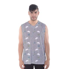 Shave Our Rhinos Animals Monster Men s Basketball Tank Top