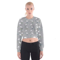 Shave Our Rhinos Animals Monster Cropped Sweatshirt