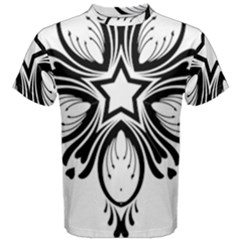 Star Sunflower Flower Floral Black Men s Cotton Tee