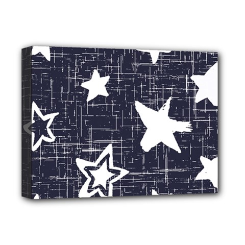 Star Space Line Blue Art Cute Kids Deluxe Canvas 16  X 12