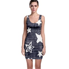 Star Space Line Blue Art Cute Kids Bodycon Dress