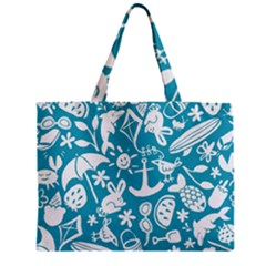 Summer Icons Toss Pattern Mini Tote Bag
