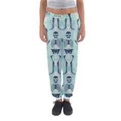 Skull Skeleton Repeat Pattern Subtle Rib Cages Bone Monster Halloween Women s Jogger Sweatpants