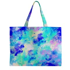 Transparent Colorful Rainbow Blue Paint Sky Zipper Mini Tote Bag