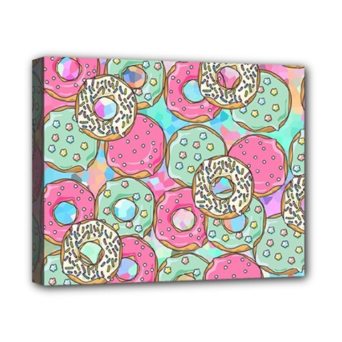 Donuts Pattern Canvas 10  X 8