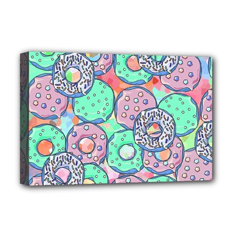 Donuts Pattern Deluxe Canvas 18  X 12