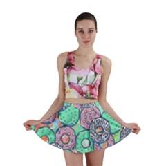 Donuts Pattern Mini Skirt