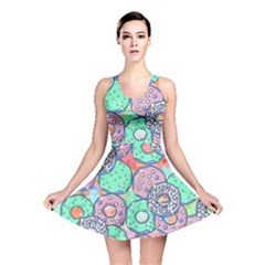 Donuts Pattern Reversible Skater Dress