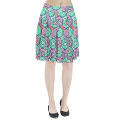 Donuts Pattern Pleated Skirt