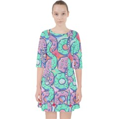 Donuts Pattern Pocket Dress