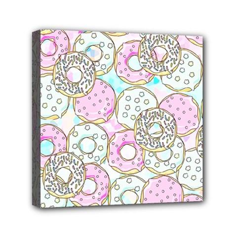 Donuts Pattern Mini Canvas 6  X 6