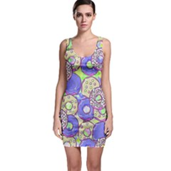 Donuts Pattern Bodycon Dress