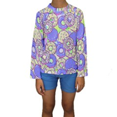 Donuts Pattern Kids  Long Sleeve Swimwear