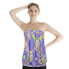 Donuts Pattern Strapless Top