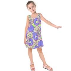 Donuts Pattern Kids  Sleeveless Dress