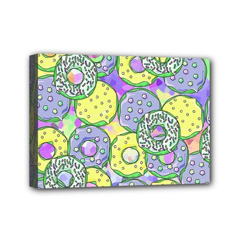 Donuts Pattern Mini Canvas 7  X 5