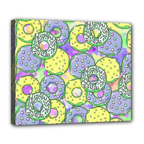 Donuts Pattern Deluxe Canvas 24  X 20