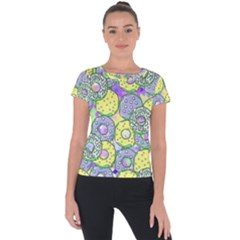 Donuts Pattern Short Sleeve Sports Top