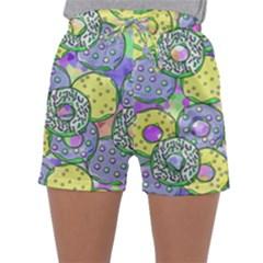 Donuts Pattern Sleepwear Shorts