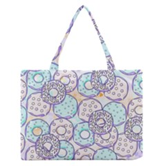 Donuts Pattern Zipper Medium Tote Bag