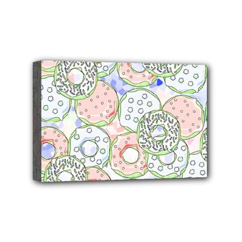 Donuts Pattern Mini Canvas 6  X 4