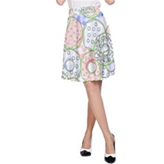 Donuts Pattern A Line Skirt