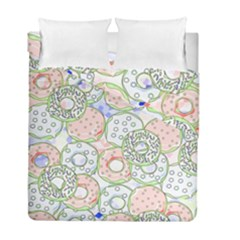 Donuts Pattern Duvet Cover Double Side (full/ Double Size)