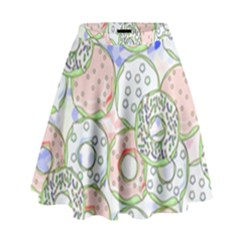 Donuts Pattern High Waist Skirt