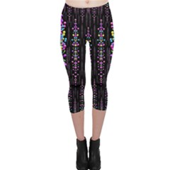 Rainbow Asteroid Pearls In The Wonderful Atmosphere Capri Leggings