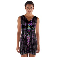 Rainbow Asteroid Pearls In The Wonderful Atmosphere Wrap Front Bodycon Dress