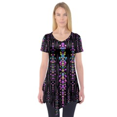 Rainbow Asteroid Pearls In The Wonderful Atmosphere Short Sleeve Tunic