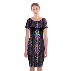 Rainbow Asteroid Pearls In The Wonderful Atmosphere Classic Short Sleeve Midi Dress