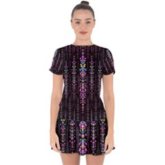 Rainbow Asteroid Pearls In The Wonderful Atmosphere Drop Hem Mini Chiffon Dress
