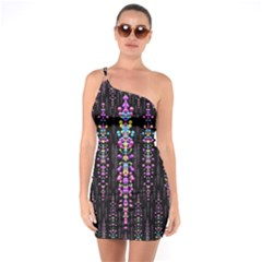Rainbow Asteroid Pearls In The Wonderful Atmosphere One Soulder Bodycon Dress