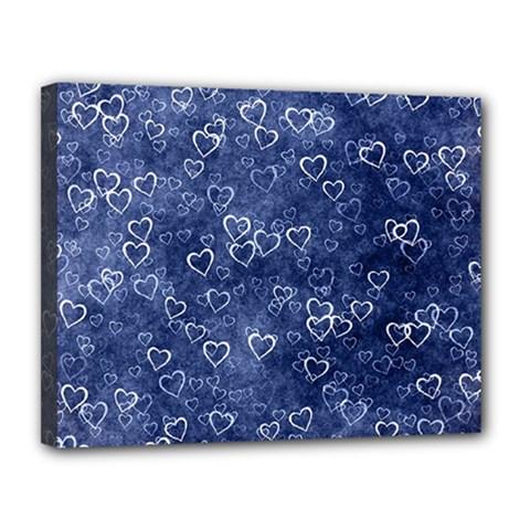 Heart Pattern Canvas 14  X 11