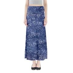Heart Pattern Full Length Maxi Skirt