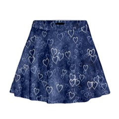 Heart Pattern Mini Flare Skirt