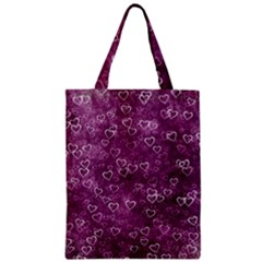 Heart Pattern Zipper Classic Tote Bag
